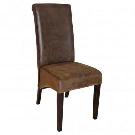 Chaise de salle à manger Cesar en bois de hêtre massif
