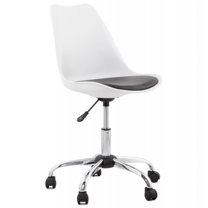 fauteuil de bureau noir et blanc edea. Black Bedroom Furniture Sets. Home Design Ideas