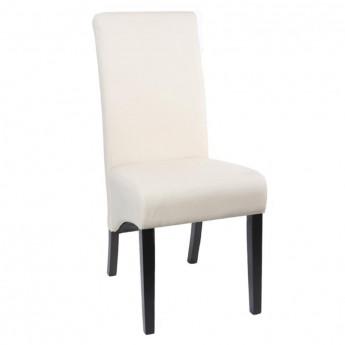 Chaise de salle à manger Vienne en bois de hêtre massif wengé crème