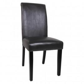 Chaise de salle à manger Milan en bois de hêtre massif wengé noir