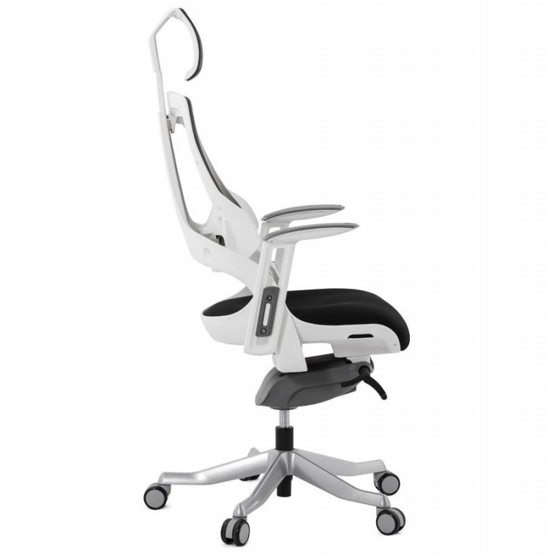 fauteuil de bureau noir et blanc salyut. Black Bedroom Furniture Sets. Home Design Ideas
