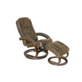 Fauteuil de relaxation Rome brun Vintage