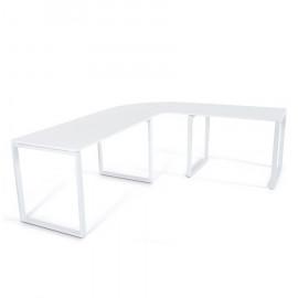 Bureau d'angle design Blanc KUVO