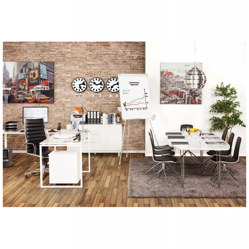 bureau d 39 angle design blanc kuvo. Black Bedroom Furniture Sets. Home Design Ideas