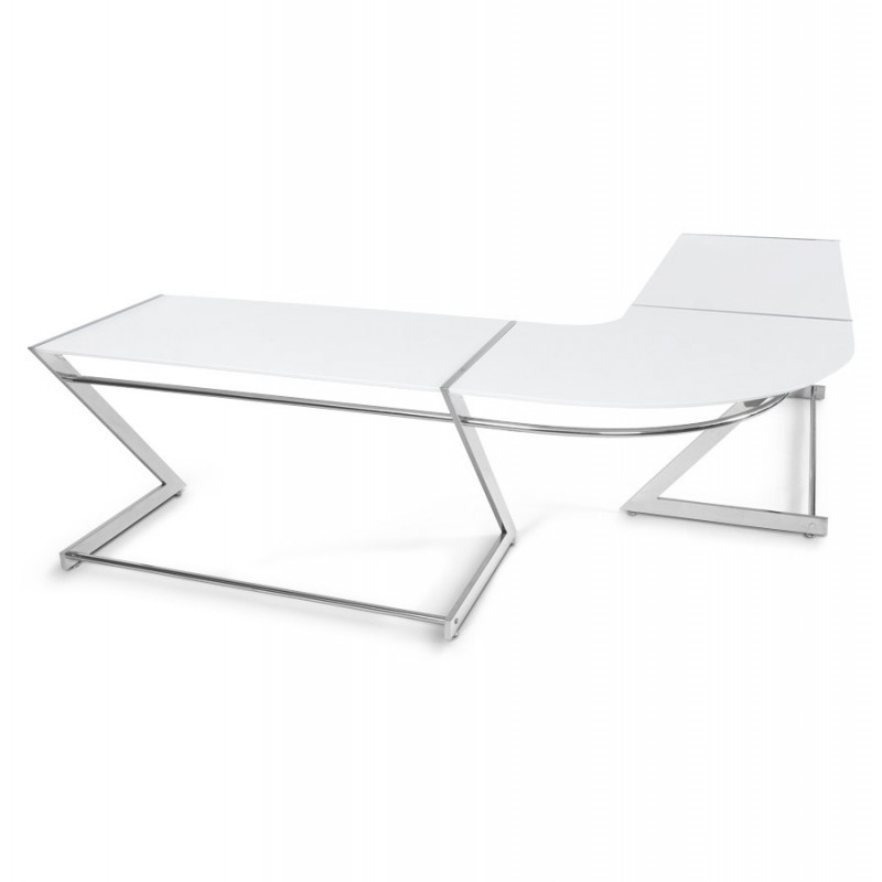 bureau design blanc ares. Black Bedroom Furniture Sets. Home Design Ideas