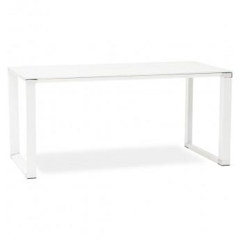 Bureau design Blanc WARNER plateau en verre