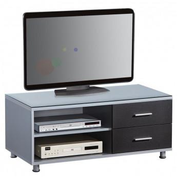 Table télévision LCD argentée/noire