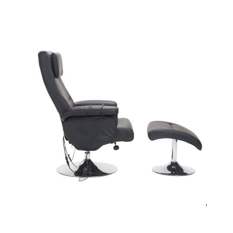 fauteuil relax massant tarama noir. Black Bedroom Furniture Sets. Home Design Ideas