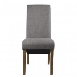 Chaise Cali bois de hêtre massif rembourrée grise
