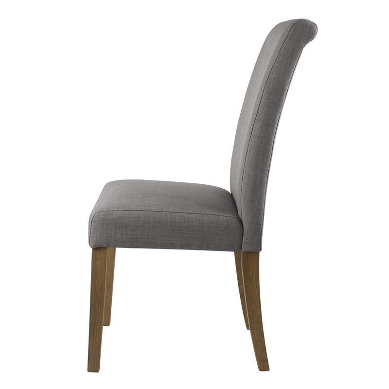 chaise pogo bois de h tre massif rembourr e grise. Black Bedroom Furniture Sets. Home Design Ideas