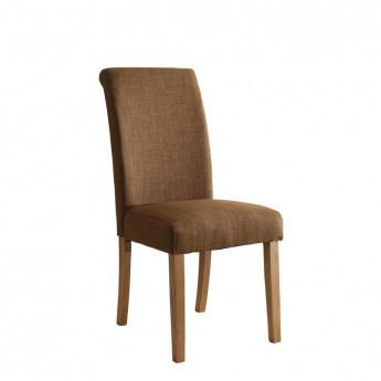 Chaise Dolo bois de hêtre massif rembourrée marron