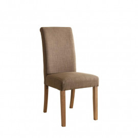 Chaise Dolo bois de hêtre massif rembourrée marron clair