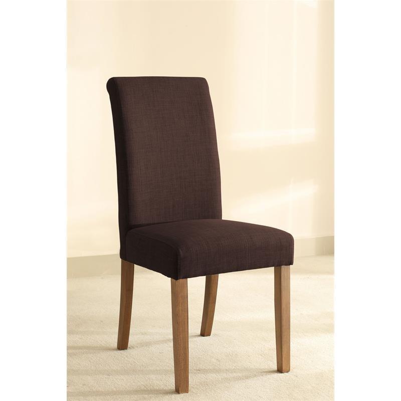 chaise dolo bois de h tre massif rembourr e marron fonc. Black Bedroom Furniture Sets. Home Design Ideas