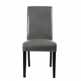 Chaise Pogo bois de hêtre massif wengée /grise