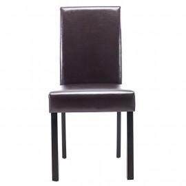 Chaise Pogo bois de hêtre massif wengé/brun