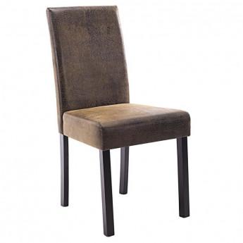 Chaise Pogo bois de hêtre massif wengé/brun vintage