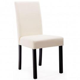 Chaise Pogo bois de hêtre massif wengée/crème