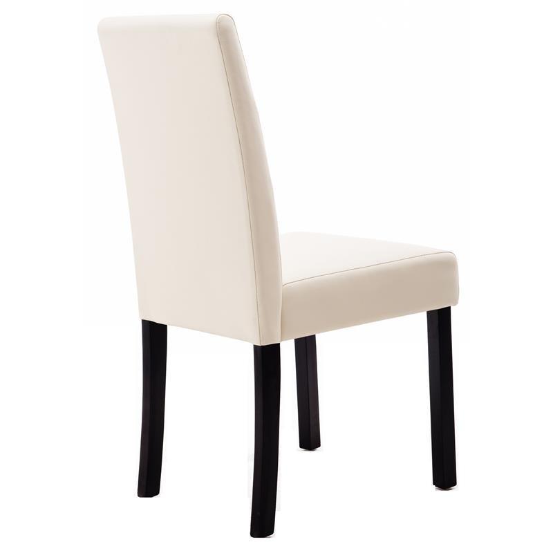 chaise pogo bois de h tre massif weng e cr me. Black Bedroom Furniture Sets. Home Design Ideas