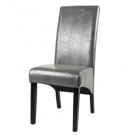 Chaise Cali bois de hêtre massif wengée/grise