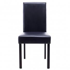 Chaise Pogo bois de hêtre massif wengée/noire