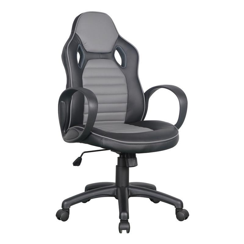 chaise de bureau racing pivotante noire grise. Black Bedroom Furniture Sets. Home Design Ideas