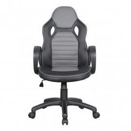 Chaise de bureau Racing pivotante noire/grise