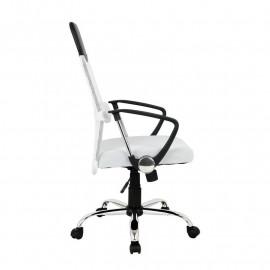 Chaise de bureau Galo pivotante blanche