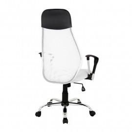 Chaise de bureau Mado pivotante blanche