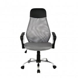 Chaise de bureau Mado pivotante grise