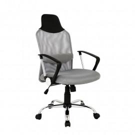 Chaise de bureau Galo pivotante grise