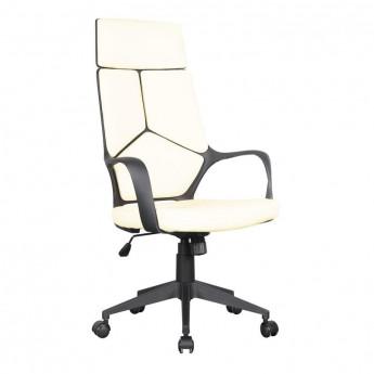 Chaise de bureau Moderna tissu blanche/noire