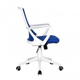 Chaise de bureau Style tissu bleue/blanche