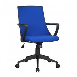 Chaise de bureau Style tissu bleue/noire