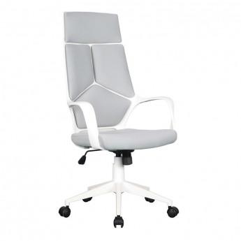 Chaise de bureau Moderna tissu grise/blanche