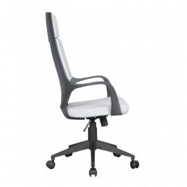 Chaise de bureau Moderna tissu grise/noire