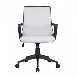 Chaise de bureau Style tissu grise/noire