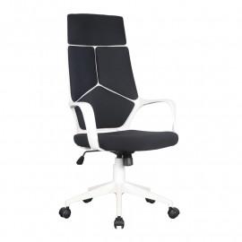 Chaise de bureau Moderna tissu noire/blanche