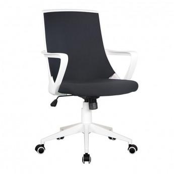 Chaise de bureau Style tissu noire/blanche