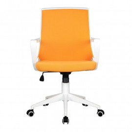 Chaise de bureau tissu Style orange/blanche