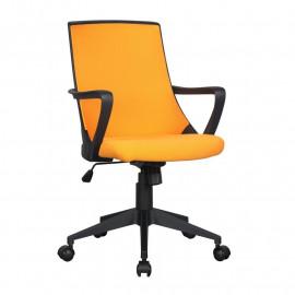 Chaise de bureau tissu Style orange/noire