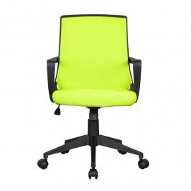 Chaise de bureau tissu Style verte/noire