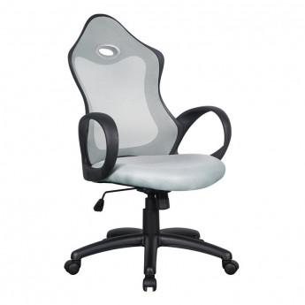 Chaise de bureau Racing pivotante grise/noire