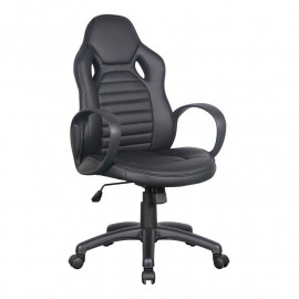 Chaise de bureau Racing confort pivotante noire