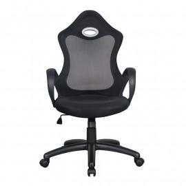Chaise de bureau Racing pivotante noire