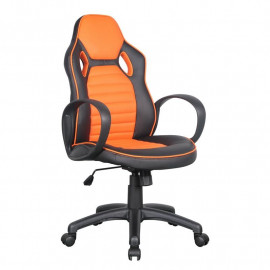 Chaise de bureau Racing pivotante noire/orange