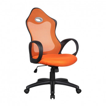 Chaise de bureau Racing pivotante orange/noire