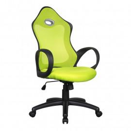 Chaise de bureau Racing pivotante verte/noire