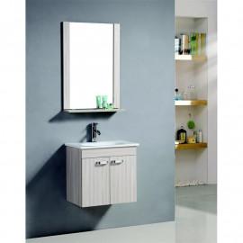 Ensemble meuble de salle de bain - Olive en couleur chêne