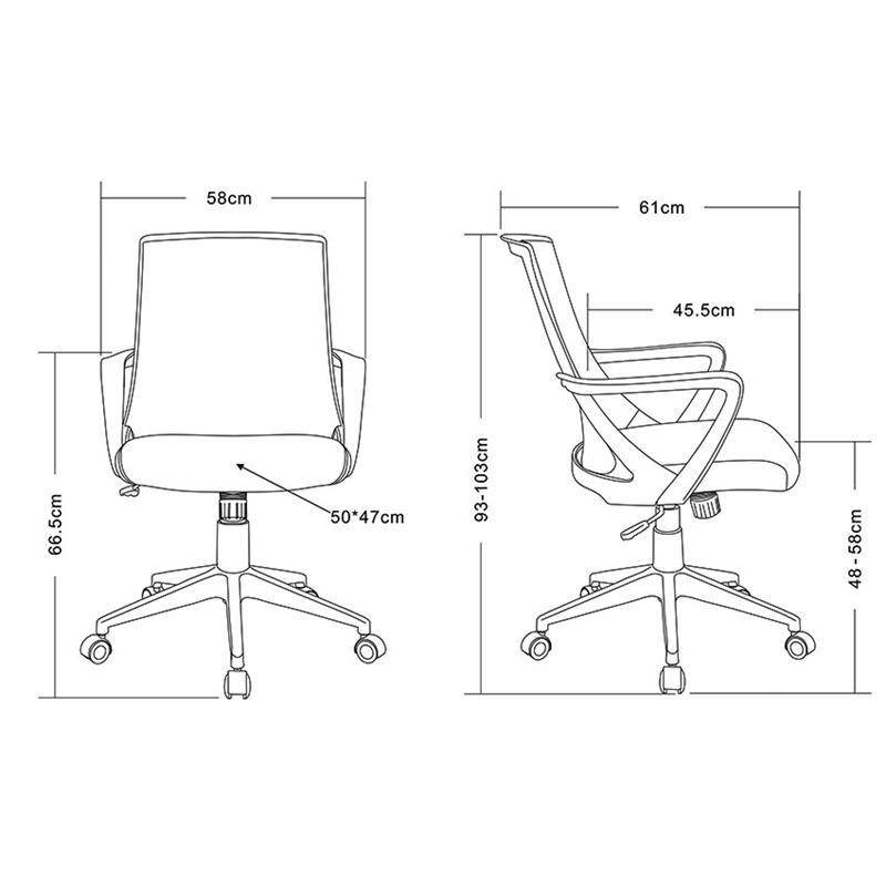 Tissu Bureau Chaise Style Orangenoire De VSpGjMLqUz