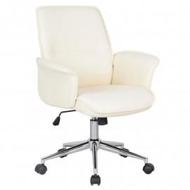 Chaise de bureau Blanche similicuir